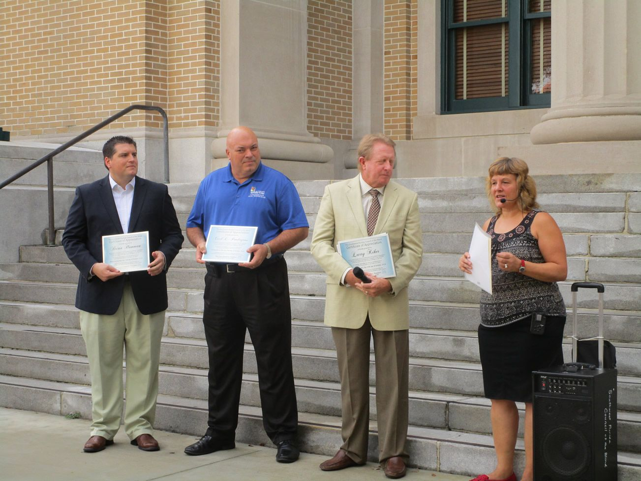 Presenting commissioners with certificates of appreciation November 2014